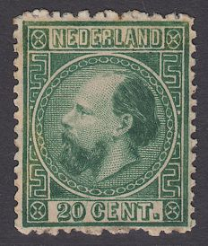 The Netherlands 1867 - King Willem III, Third emission - NVPH 10IIE, with inspection befund.
