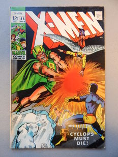 Marvel Comics - X-Men #54 - 1st Appearance & Origin of Alex Summers + 1st appearance of Living Pharaoh - 1x sc - (1969)
