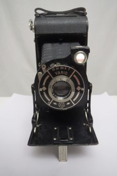 Camera of an unknown master. Shutter Vario. Optics Velostigmat 1: 6.3 F = 10.5cm Without logos and badges.