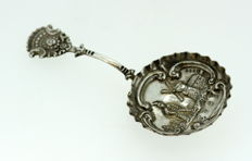 Victorian Silver Spoon With Various Engravings - Samuel Boyce Landeck - French Import - London - 1892