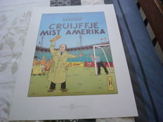 The adventures of Cruijffje. Cruijffje mist Amerika