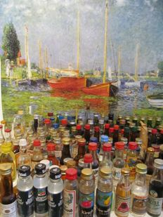 Collection of 166 vintage liquer miniaturebottles period 1970- 1990