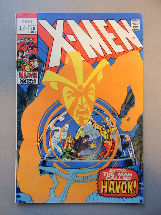 Marvel Comics - X-Men #58 - With 2nd appearance of Alex Summers as Havok - 1x sc - (1969)