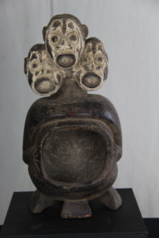 Beautifully 3-headed statue - IGBO - Nigeria