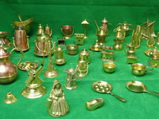 Collection of 51 copper miniatures