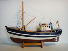 A Fishing boat - Kotter - wooden ship model .