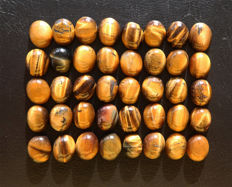 Tiger's Eye - untreated Cabochons - 11 to 12mm - 163ct  (40)