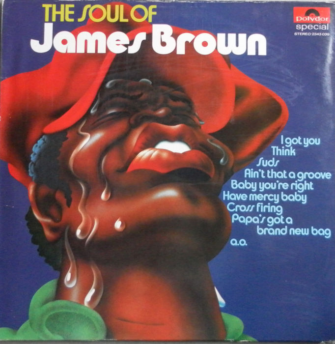 Three Lp's & One Double Album &  A Promo Maxi Single - Very  Rare  Soul Albums  by the Godfather of Soul : JAMES BROWN