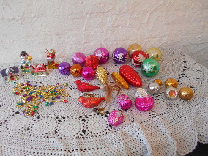 Collection of old Christmas baubles