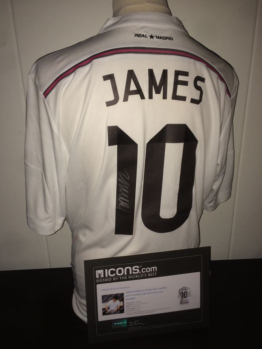 promo code 4a838 20457 James Rodriguez Signed Real Madrid 14/15 Shirt in Deluxe ...