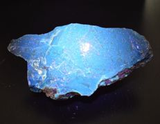 Fluorescent blue Amber from Sumatra - 175 x 85 x 80 mm - 444 g