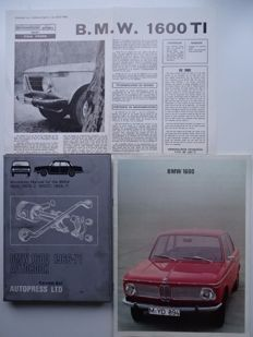 "B.M.W. ""1600"" / ""1600-2"" / ""1600 TI"" - 1966 to 1971 - Mixed lot with Owners Workshop Manual, sales brochure & roadtest"