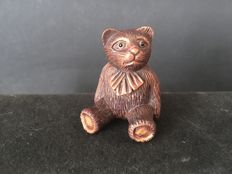 A wooden Netsuke in the shape of a bear - Japan - 2nd half 20th century