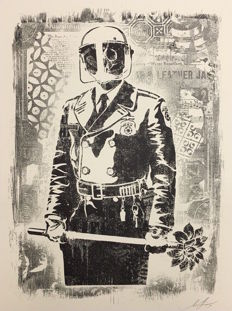 Shepard Fairey (OBEY) - My Florist is a Dick Exhibition Print