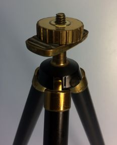 Antique tripod / small model for display of vintage cameras