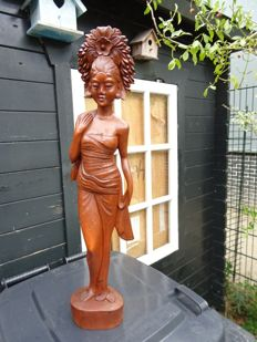 Large Balinese lady in waiting - Indonesia - years 70 (70 cm)
