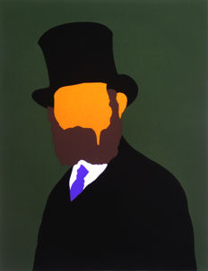 Alex Zanda - Portrait of Manet (orange)
