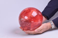 XXL Strawberry quartz sphere - 6.599kg