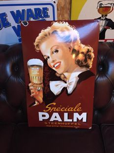 Enamel advertising sign PALM