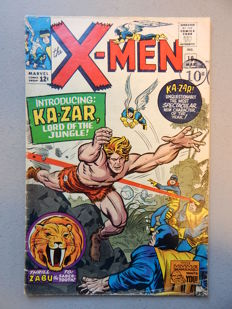 Marvel Comics - X-Men #10  - With 1st appearance of Ka-Zar + Zabu + the Savage Land - 1x sc - (1965)