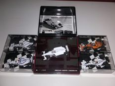 Minichamps - Scale 1/43 - Set of 5 Jos Verstappen Formule 1 cars & promotional material Jos Verstappen with signature