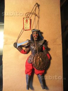 Sicilian hardened warrior puppet - Sicilian puppet, Italy - in wood