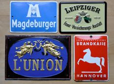 Collection of 4 signs - insurance companies