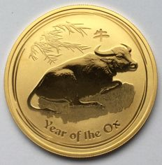 Australia - 100 Dollars 2009 'Year of the Ox' - 1 oz gold