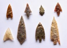 Lot with arrowheads from Niger - 21 mm (58)