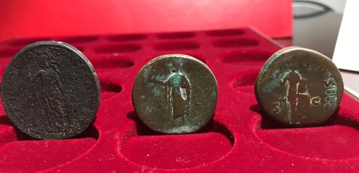 Roman Antiquity - Lot comprising 5 AE sestertii (5x)