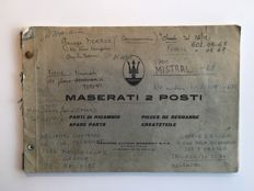 Maserati Mistral Spare Part Catalogue and Service Manual 1968