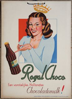 ROYAL CHOCO - old Dutch chocolate drink advertising sign