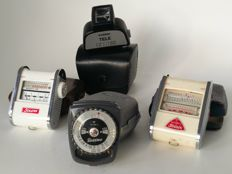 Collection of 4 Gossen light meters