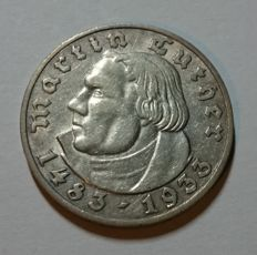 Germany - 5 Reichsmark 1933 A Luther