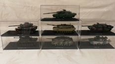 Nice collection model - tank of 1:72 international models 2nd half 20th century