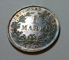 Germany - 1 mark 1911 D