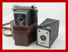 2 Dutch Vena cameras from Amsterdam, the Venaret and the Sportbox from circa 1949