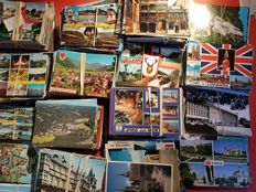 lot of 2900 + postcards Europe (80%) and rest Worldwide