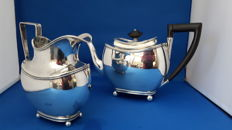 Dutch silver teapot and creamer 1827