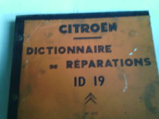 Citroen id, dictionary of the repairs