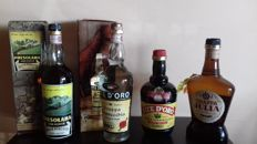 4bottles :1 xcl.75 old grappa Julia - 1 x cl.75 Presolana liqueur with original box - 1x cl.75 grappa 1963 Camel Vite d.oro with original box - 1x cl.70 grappa Camel Vite d'Oro