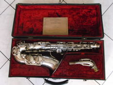 Saxophone Alto Silver Plated Original Box Dolnet(France) Nº23295 Years 1940