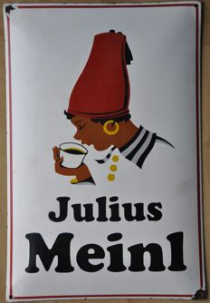 Enamel sign - MEINL COFFEE