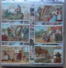Album Chromos Liebig - 34 old series of 6 cards - Liebig edition in very good condition - from 1889 to 1903.