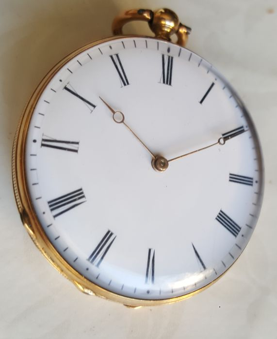 Abraham Vacheron Girod - 18 ct. Gold Pocket Watch - Homme - Avant 1850