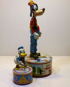 """Marx, United States (USA) - height approximately 21 cm - Tin Walt Disney DONALD DUCK DUET """"with clockwork motor, 1950s"""