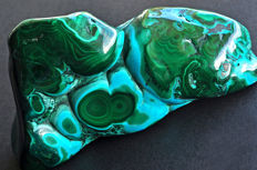 Polsihed Malachite and Chrysocolla from Congo - 13.6 X 7.2 X 5.4 cm - 803 gm