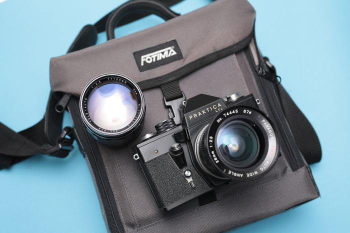 Praktica super tl 2 lens bag a condition catawiki