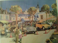 Citroën ds, bx 4 tc, set of 3 posters, posters, original