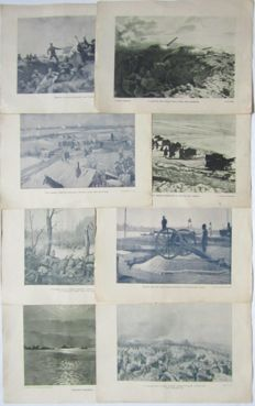 Photo-engravings of the  WW I,eight copies - Austria-Hungary 1916.